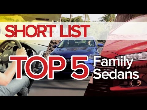Top 5 Best Family Sedans - The Short List