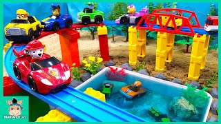 Toys assembly videos for kids | Build swimming pool for Pinkfong Shark family | MariAndToys