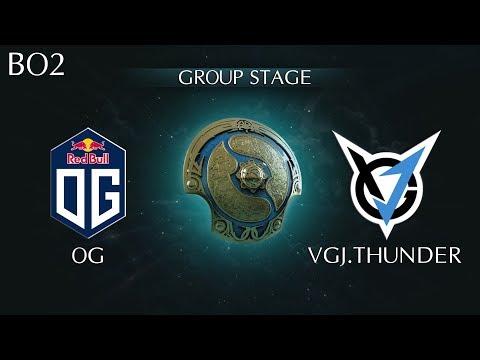 Highlights OG vs VGJ.T TI8 Group A   VGJ.Thunder vs OG The International 2018