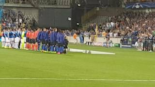 Club Brugge-Leicester City Champions league hymne