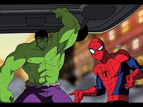 Nursery Rhymes Spiderman Different Color & Hulk man Hudson Disney Cars with Mcqueen & Frozen Songs