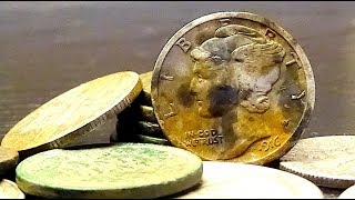 Metal Detecting Finds SILVER SPILL at an Old House! Door Knocking for Old Coins!