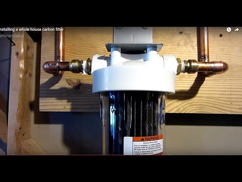 Installing a whole house carbon filter