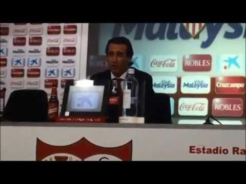 Rueda de prensa de Unai Emery tras el triunfo del Sevilla sobre el Villarreal