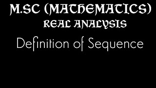 Definition of a Sequence of real numbers,examples,convergent sequences