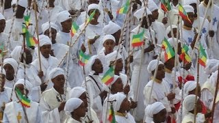 Meskel celebration in Addis Ababa, Ethiopia (September 26, 2014)