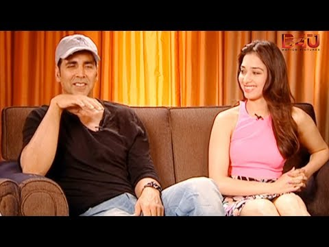 Exclusive Interview With Akshay Kumar And Tamannah | Entertainment | Latest Bollywood Movie video