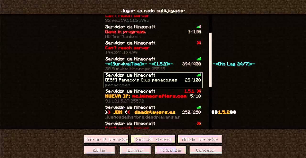 Сервера minecraft 1.5.2