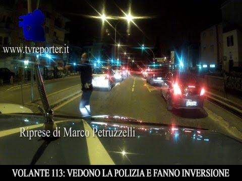 VOLANTE 113: VEDONO POLIZIA INVERTONO MARCIA E FUGGONO