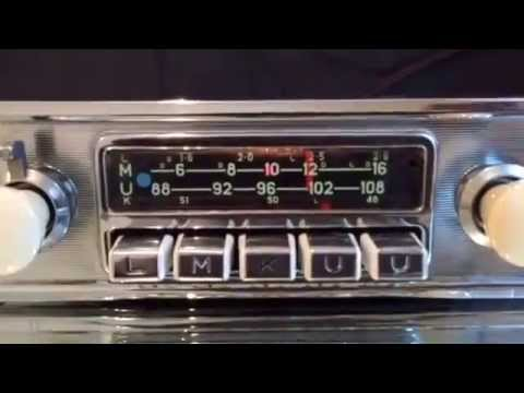 Chromelondon.com BLAUPUNKT FRANKFURT IVORY AND CHROME VINTAGE FM CAR RADIO WITH MP3