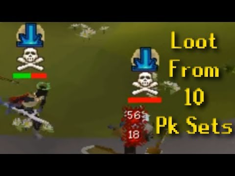 Pure Progress #63 - OSRS - LOOT FROM 10 PK SETS