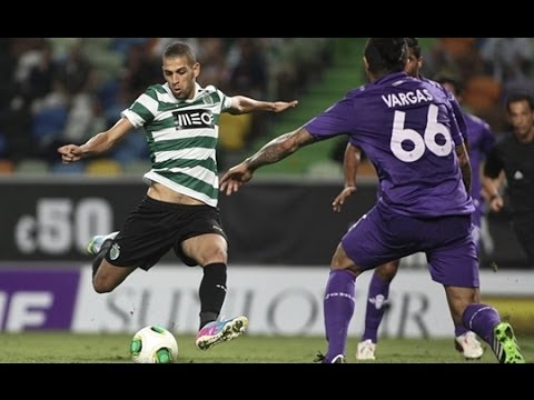 Islam Slimani Sporting Lisbonne-But et skills (12-2014)