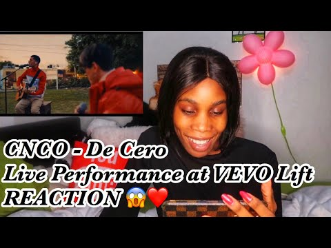 CNCO - De Cero Live Performance || VEVO LIFT (Reaction)