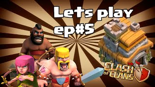 Lets play clash of clans ep 5 (lets be hog ridas!)