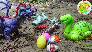 TERROR LONG TOYS - Two Dragons to save the dinosaurs and pick up eggs - toy toys A233V ToyTV