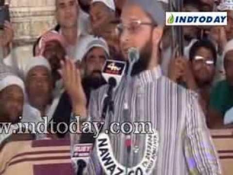 AIMIM President Asaduddin Owaisi speach at Mecca Masjid on Jummatul...