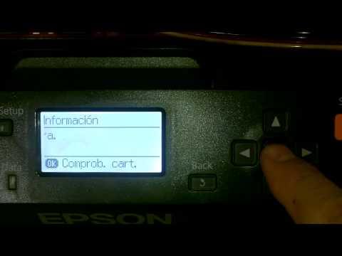 Como resetear el ciss [ sistema de alimentación continua ] Epson 7110
