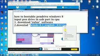 how to make bootable pendrive windows 8.1 rufus