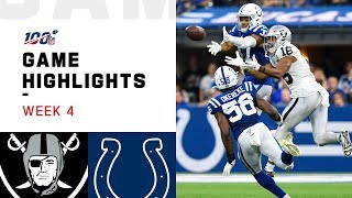 Raiders vs. Colts Week 4 Highlights | NFL 2019