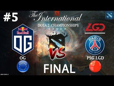 Матч в котором РЕШИЛСЯ ИСХОД TI8 | OG vs PSG.LGD #5 (BO5) | GRAND FINAL | The International 2018