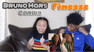 Download Lagu BRUNO MARS - FINESSE (REMIX) FT. CARDI B [OFFICIAL VIDEO] REACTION Gratis STAFABAND