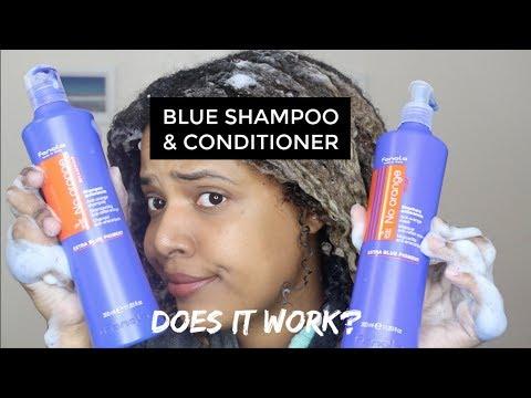 Fanola Blue Shampoo And Conditioner On Dark Blonde / Orange / Brassy Hair