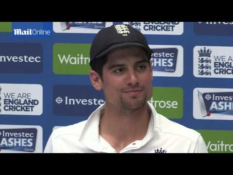 OUCH! Alastair Cook on being hit in the...