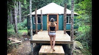 Unbelievable! Secret OFF GRID YURT in the Wilderness - Ep. 47