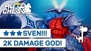 ★★★ SVEN 2K DAMAGE GOD!! Dota Auto Chess STRONGEST ★★★ UNIT!!!