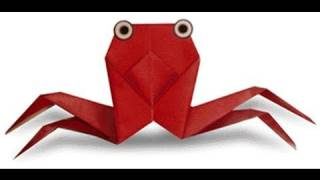How To Make Easy Crab Origami カニ折り紙 Cangrejo 蟹折紙 Krab Caranguejo Kepiting Краб