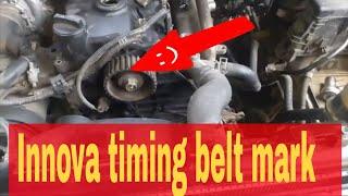 Toyota Innova Fortuner diesel timing belt installing