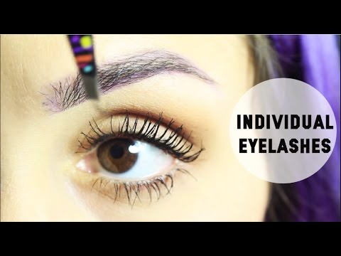 how to put on individual eyelashes yourself