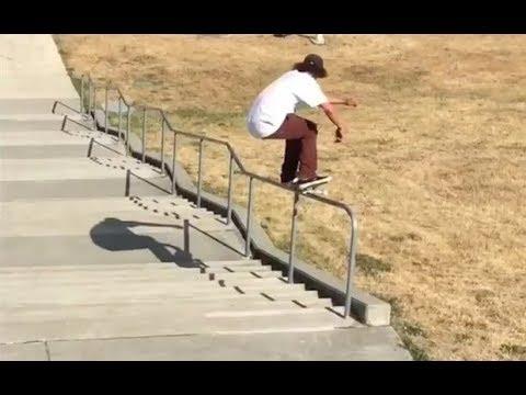 INSTABLAST! -  40 Stair Rail Session!! Board to Bike Flip Combo!! Insane Trampoline Skateboarding!!
