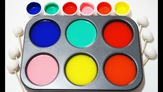 How To Make Frozen Paint with Play Doh Learn colors
