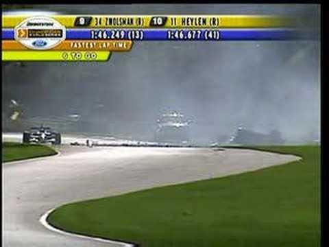 Katherine Legge crash Road America 2006