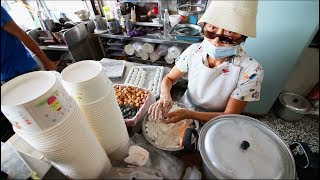 Taiwanese Breakfast Street Food Tour | EXTREMELY Unusual Almond Egg Tea - STREET FOOD IN TAIWAN