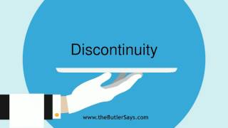 "Learn how to say this word: ""Discontinuity"""