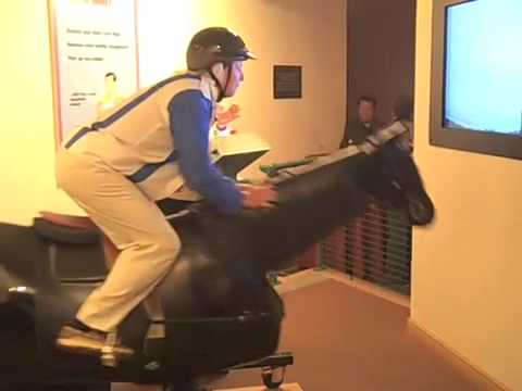 Riding like a Jockey, mechanical horse, National Museum of Racing and Hall of Fame