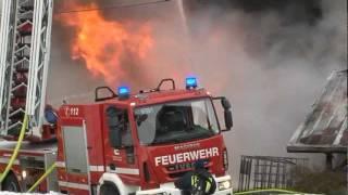 Großbrand Bad Laasphe - Oberndorf