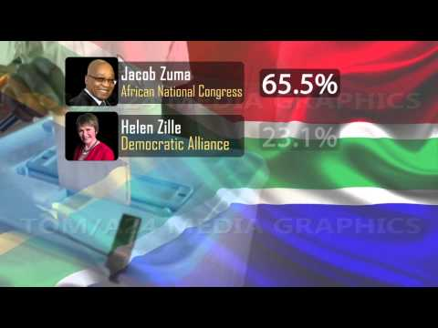 Info Graphics South Africa elections polls