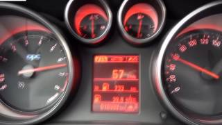 Opel Astra OPC 2.0 Turbo Ecotec 280 hp acceleration 0-100 km/h. Опель Астра ОПС турбо разгон -100