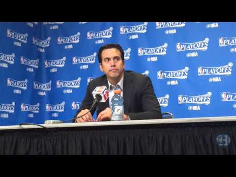 Erik Spoelstra reacts to Heat's Game 5 loss to Hornets