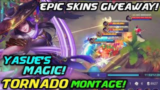 Yasue Fanny Tornado Montage! His Cables Surpasses Magic! EPIC SKIN GIVEAWAY CONTEST!