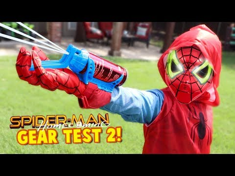 Spider-Man Homecoming Movie Gear Test! Real Web Shooters for Kids! Toys Review by KIDCITY thumbnail