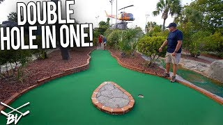 DOUBLE MINI GOLF HOLE IN ONE AND MORE LUCKY SHOTS AT MAYDAY GOLF!