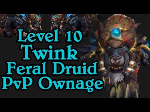 Paiid | Insane Level 10 Twink Feral Druid Pvp 2v1 Ownage - Wow World Pvp video