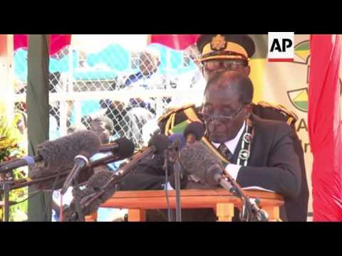 Mugabe says Zimbabwe won't accept outside interference in crucial elections