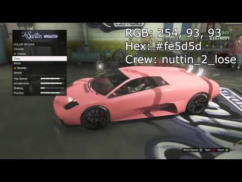 Gta 5 Online Crew Cars ▶ Gta 5 Online Best Crew
