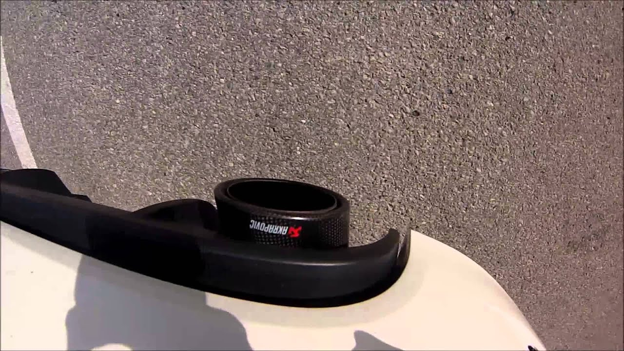 500 Abarth Akrapovic Exhaust Straight Downpipe Youtube