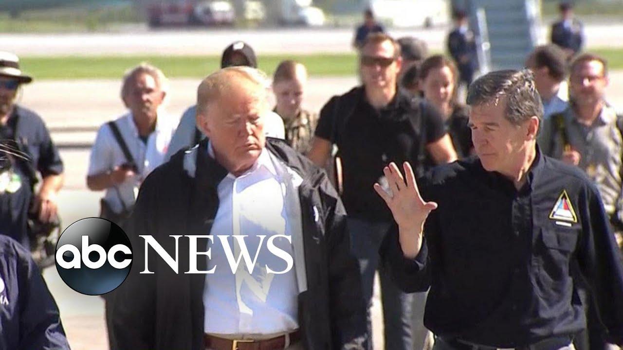 Trump visits Carolinas after Hurricane Florence